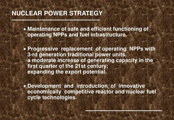 NUCLEAR POWER STRATEGY