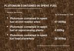 plutonium contained in spent fuel