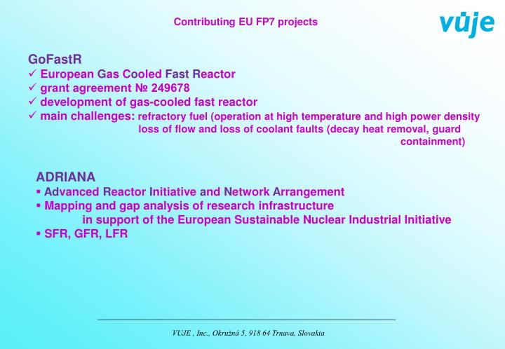 Contributing EU FP7 projects