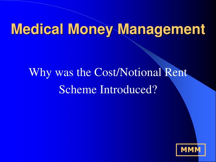 Why was the Cost/Notional Rent