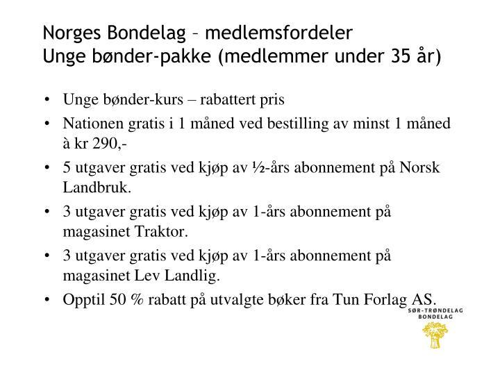 Norges Bondelag – medlemsfordeler