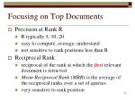 focusing on top documents1