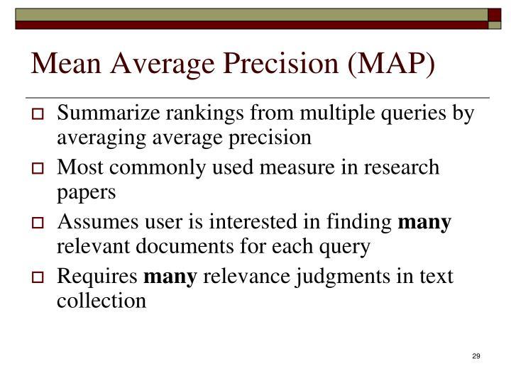 Mean Average Precision (MAP)
