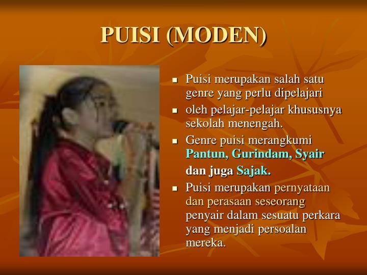 PUISI (MODEN)