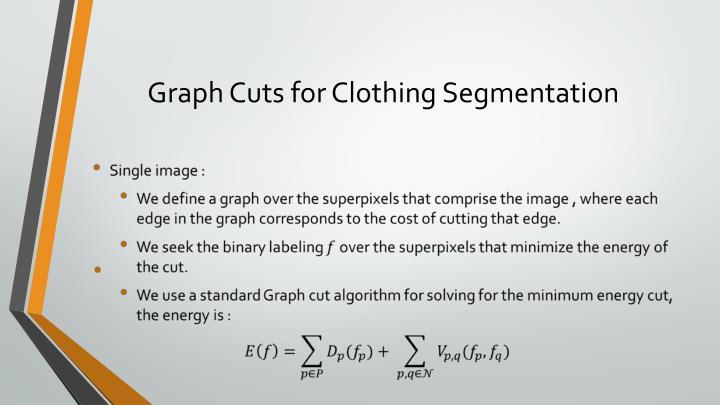 Graph Cuts for Clothing Segmentation