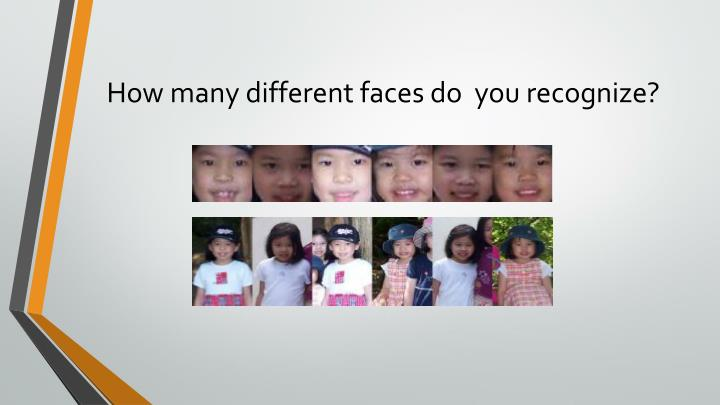 How many different faces do  you recognize?