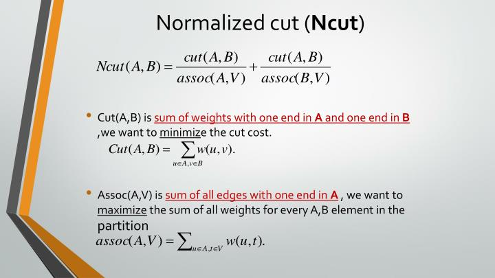 Normalized cut (