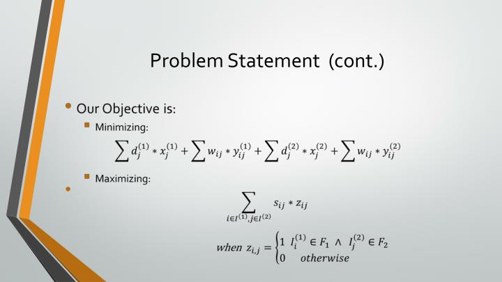 Problem Statement  (cont.)