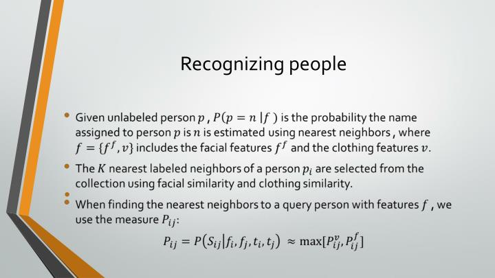 Recognizing people