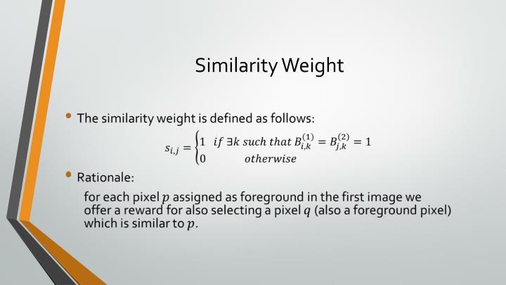 Similarity Weight