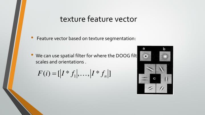 texture feature vector