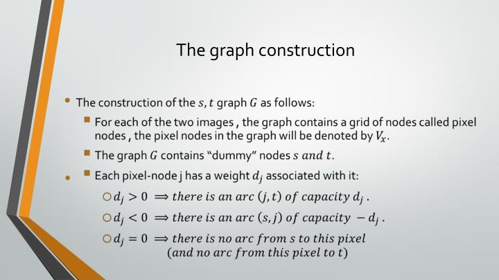 The graph construction