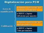 digitalizaci n para pcm