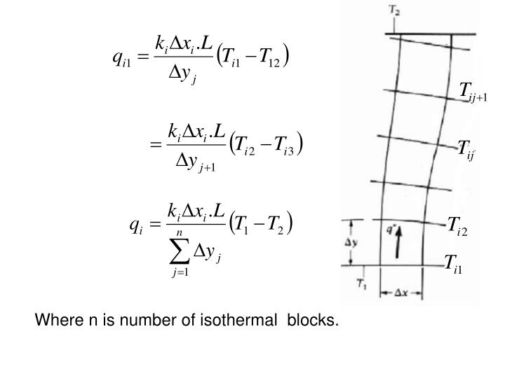 Where n is number of isothermal  blocks.