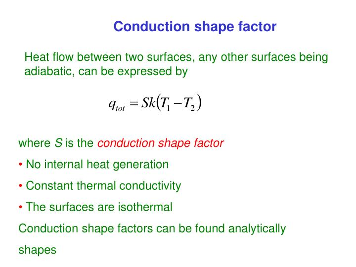 Conduction shape factor