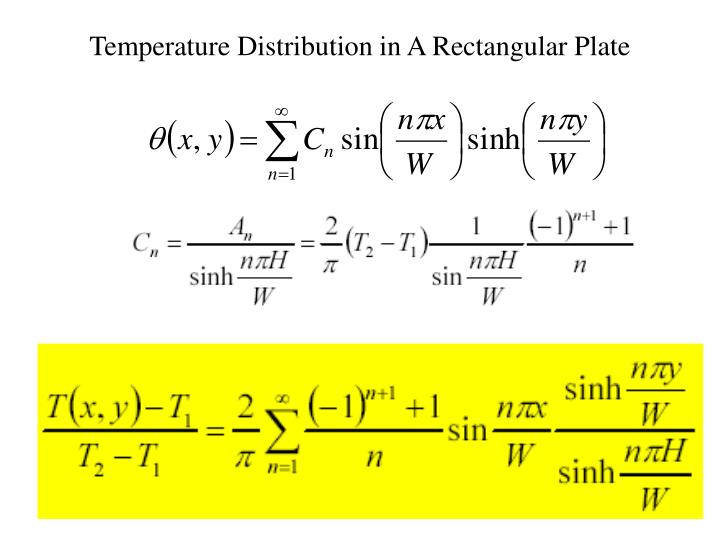 Temperature Distribution in A Rectangular Plate