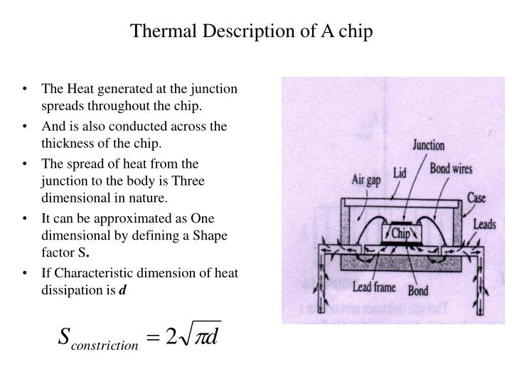 Thermal Description of A chip