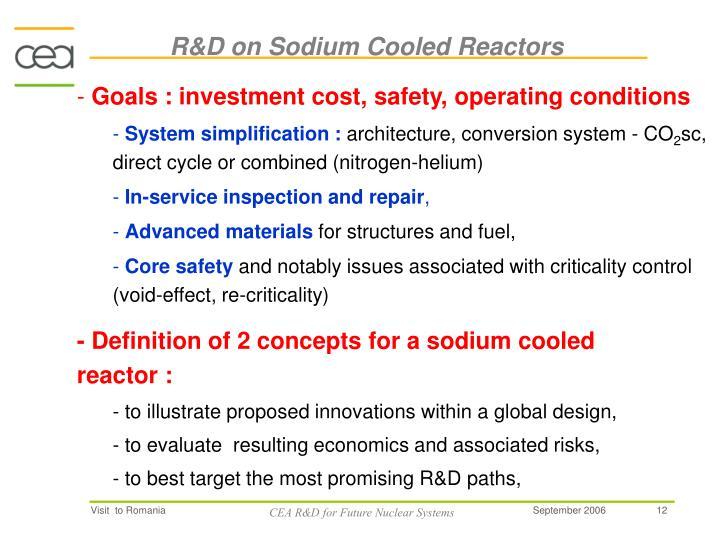 R&D on Sodium Cooled Reactors