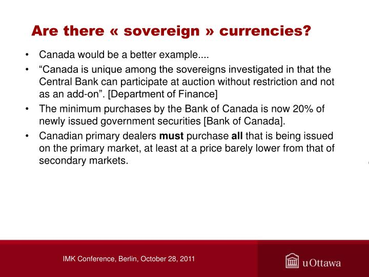 Are there «sovereign» currencies?