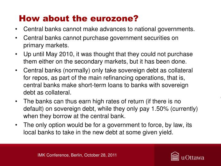 How about the eurozone?