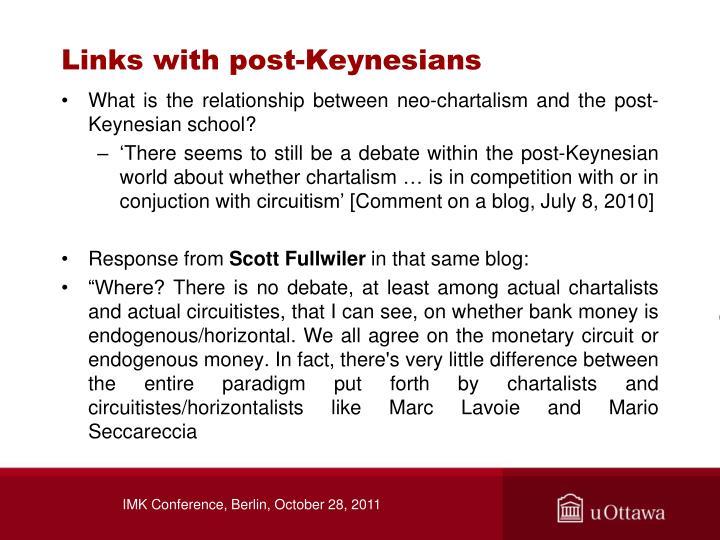 Links with post-Keynesians