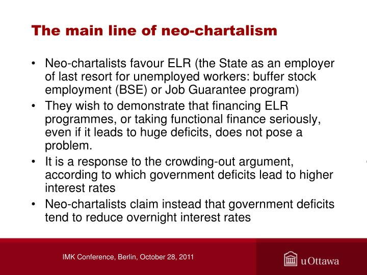 The main line of neo-chartalism