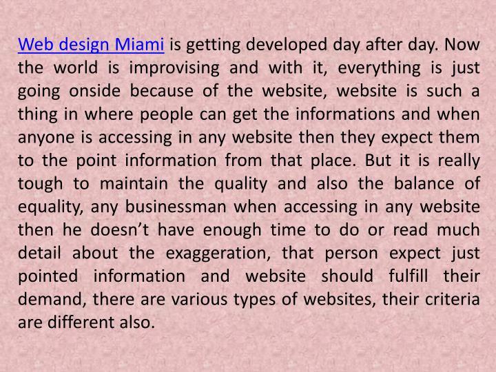 Web design Miami