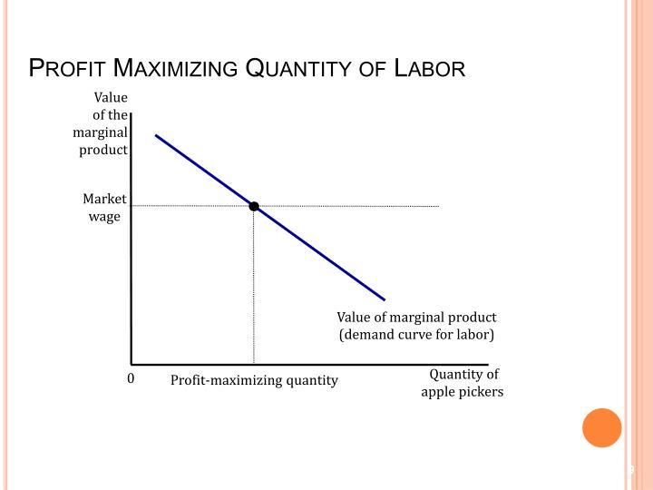 Profit Maximizing Quantity of Labor