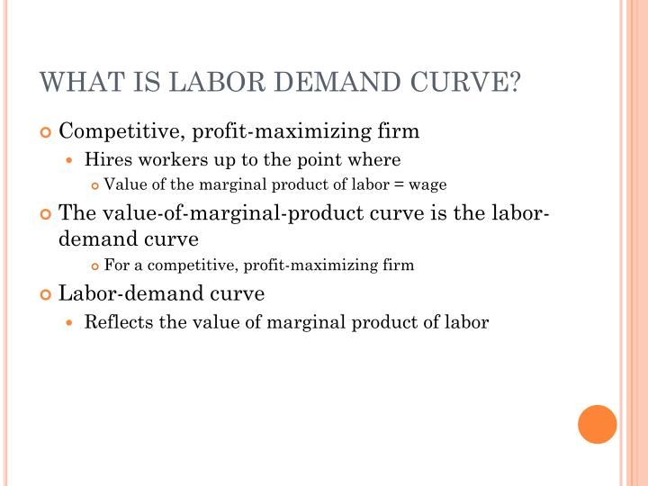 WHAT IS LABOR DEMAND CURVE?