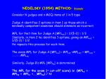 nedelsky 1954 method example