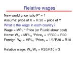 relative wages