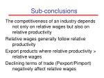 sub conclusions