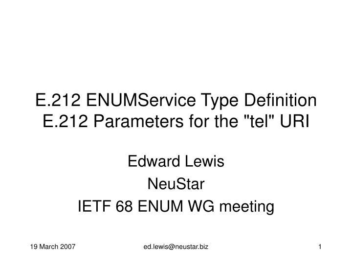 E.212 ENUMService Type Definition