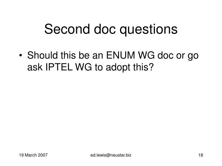 Second doc questions