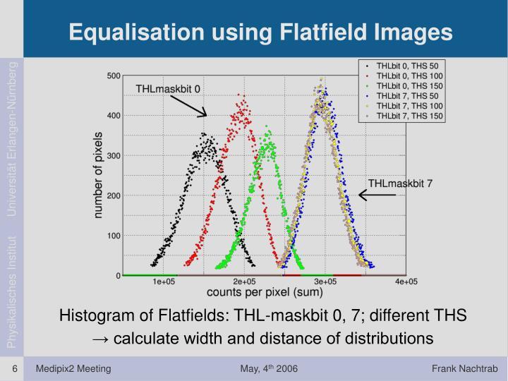Equalisation using Flatfield Images