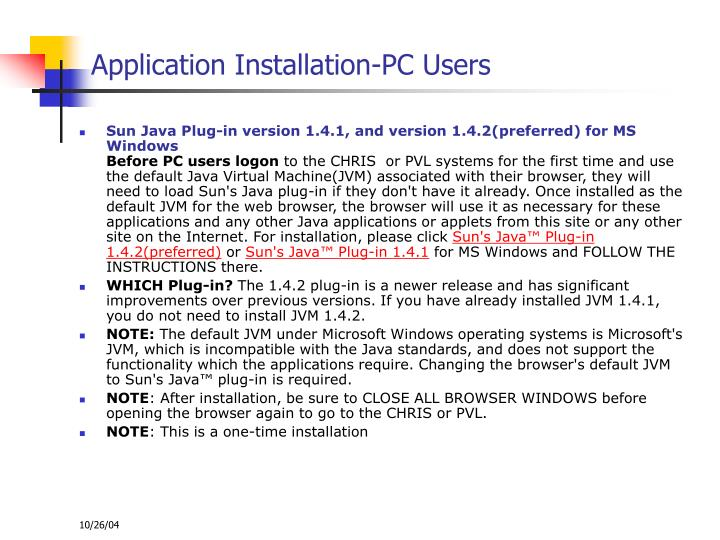 Application Installation-PC Users