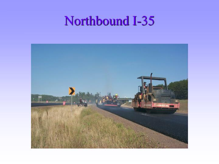Northbound I-35
