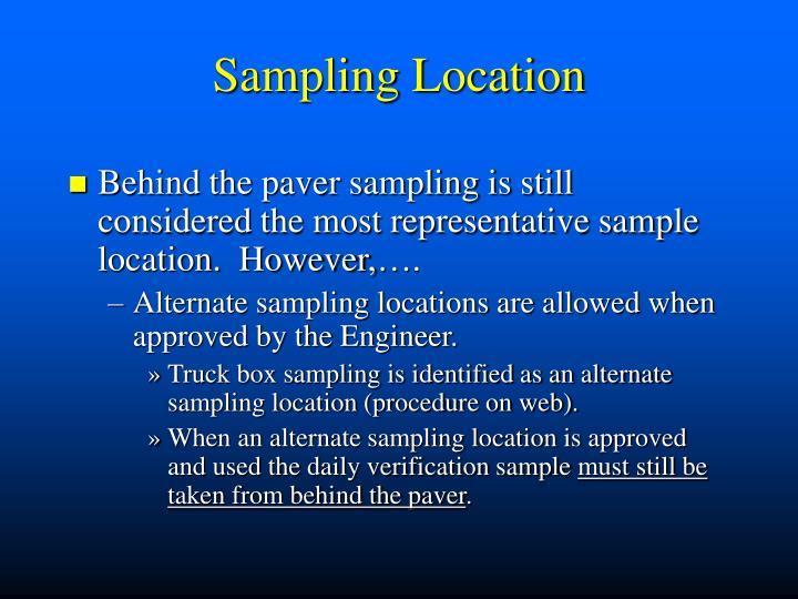 Sampling Location