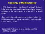 frequency of mmr mutations