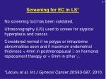 screening for ec in ls