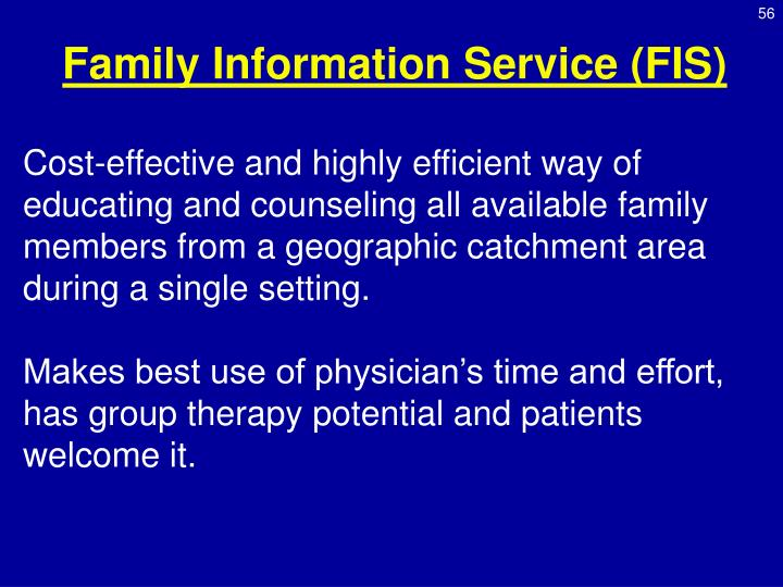 Family Information Service (FIS)
