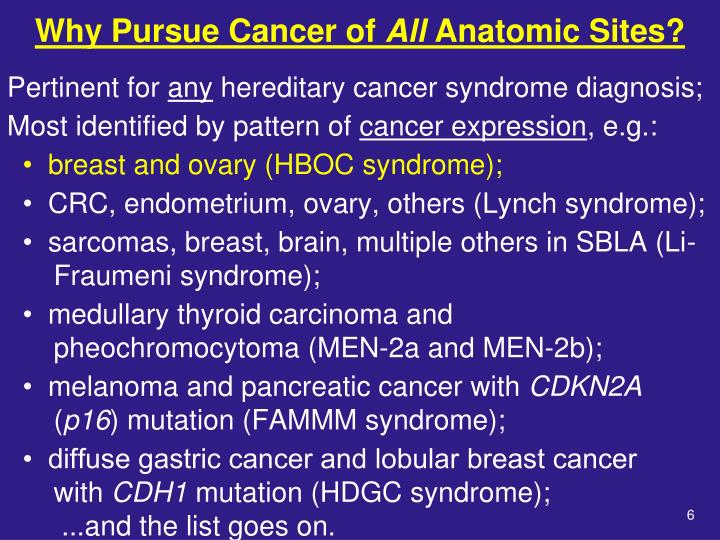 Why Pursue Cancer of