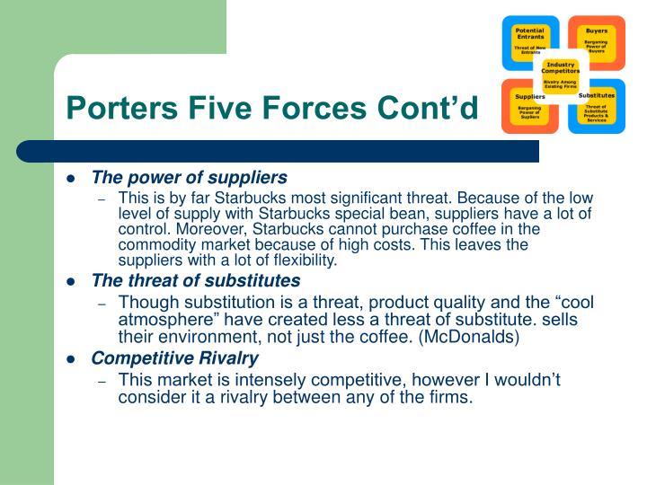 Porters Five Forces Cont'd