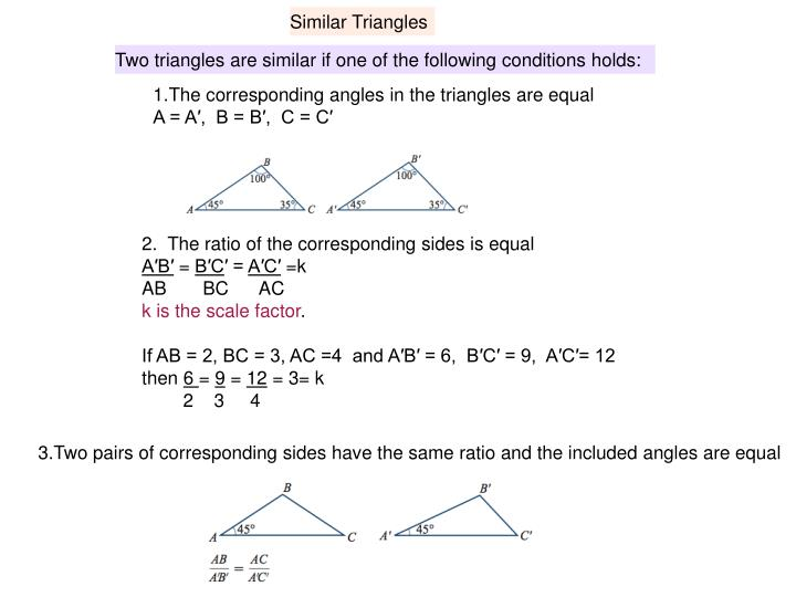 Similar Triangles