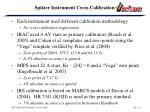 spitzer instrument cross calibration