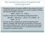 the marginal product of capital and capital demand