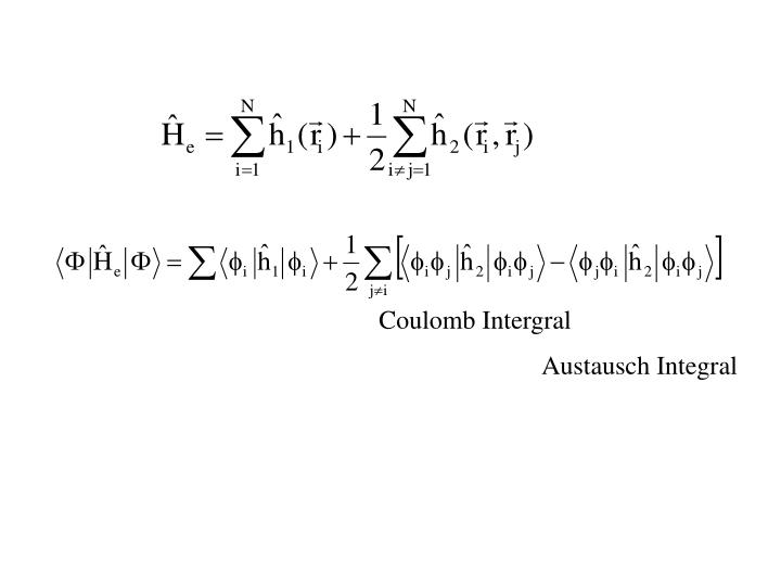 Coulomb Intergral