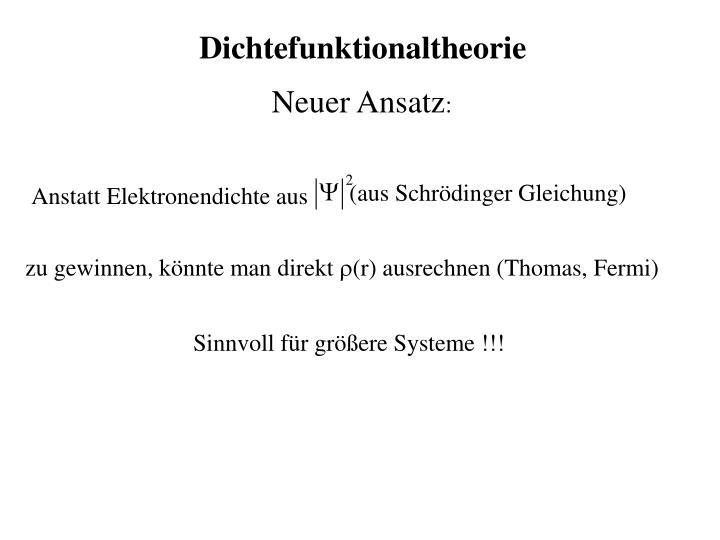 Dichtefunktionaltheorie