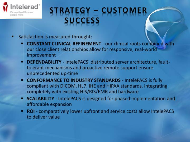 Strategy – Customer Success