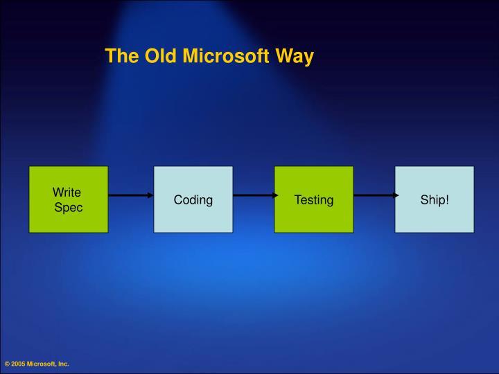 The Old Microsoft Way
